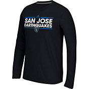 adidas Men's San Jose Earthquakes Dassler Ultimate Black Performance Long Sleeve Shirt