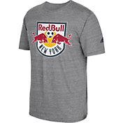 adidas Men's New York Red Bulls Vintage Crest Grey T-Shirt