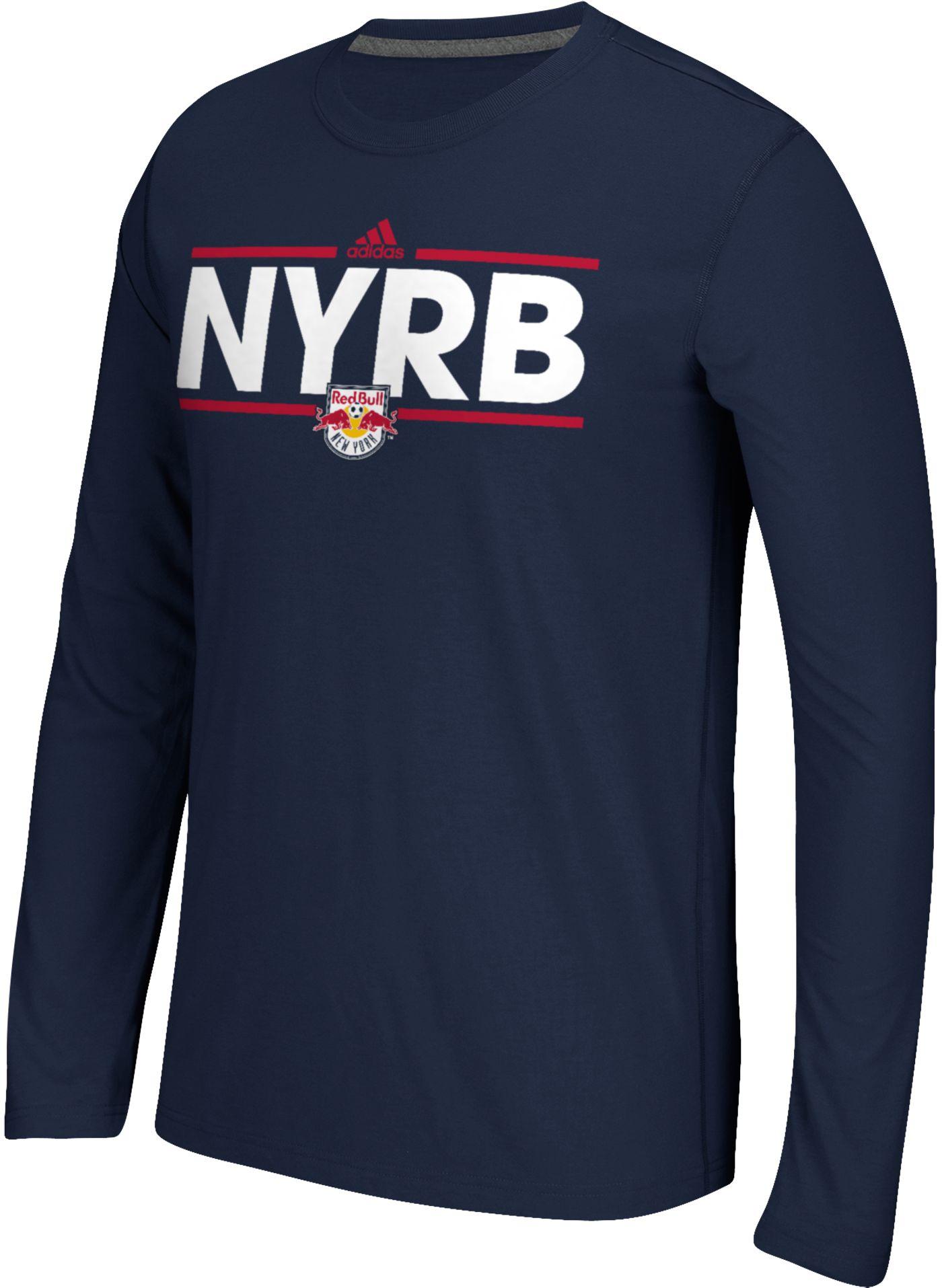 adidas Men's New York Red Bulls Dassler Ultimate Navy Long Sleeve Shirt