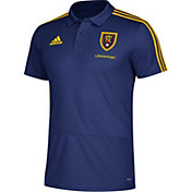 adidas Men's Real Salt Lake Navy Coaches Polo