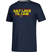 adidas Men's Real Salt Lake Dassler Local Saying Navy Performance T-Shirt