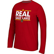 adidas Men's Real Salt Lake Dassler Ultimate Red Performance Long Sleeve Shirt