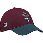 adidas Men's Colorado Rapids Authentic Slouch Maroon Adjustable Hat