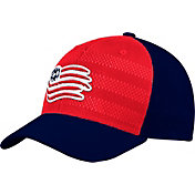 adidas Men's New England Revolution Authentic Structured Blue/Red Flexfit Hat