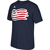 adidas Men's New England Revolution Basic Logo  T-Shirt