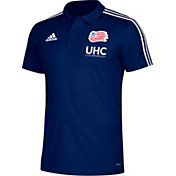 adidas Men's New England Revolution Navy Coaches Polo
