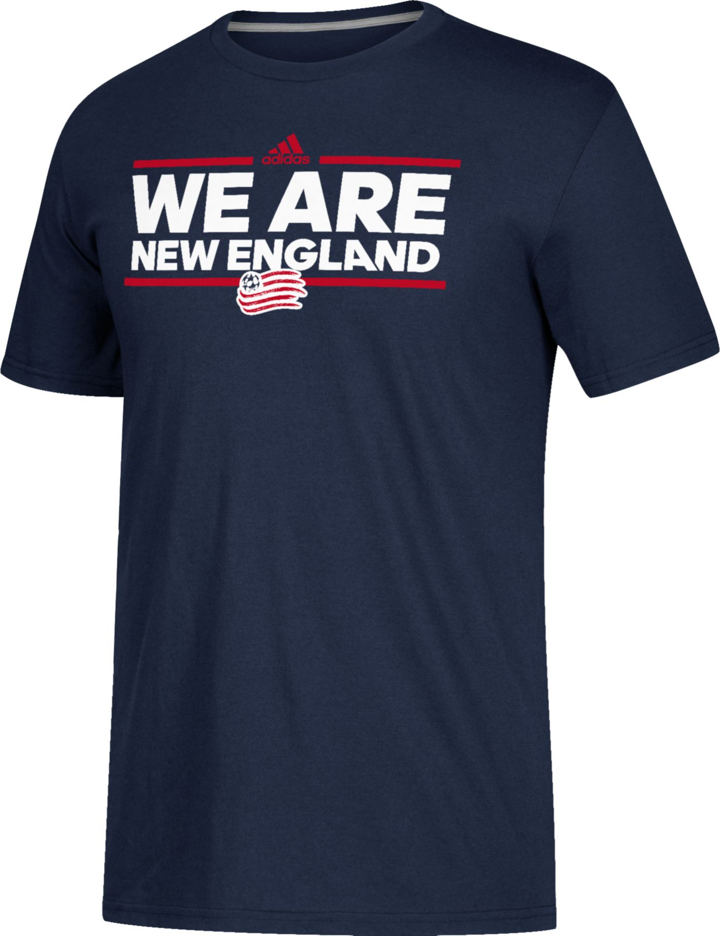 adidas Men's New England Revolution Dassler Local Saying Navy Performance T-Shirt