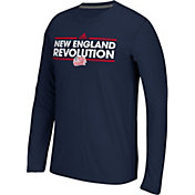 adidas Men's New England Revolution Dassler Ultimate Navy Performance Long Sleeve Shirt