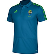 adidas Men's Seattle Sounders Blue Coaches Polo