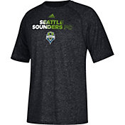 adidas Men's Seattle Sounders climalite Heather Black Performance T-Shirt