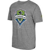 adidas Men's Seattle Sounders Vintage Crest Grey T-Shirt