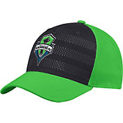 adidas Men's Seattle Sounders Authentic Structured Green/Grey Flexfit Hat