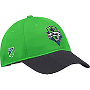 adidas Men's Seattle Sounders Authentic Slouch Green Adjustable Hat