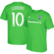 adidas Men's Seattle Sounders Nicolas Lodeiro #10 Player Green T-Shirt