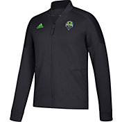adidas Men's Seattle Sounders Anthem Grey Jacket