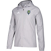 adidas Men's Seattle Sounders Grey Rain Jacket