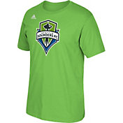 adidas Men's Seattle Sounders Basic Logo Green T-Shirt
