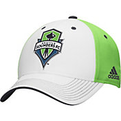 adidas Men's Seattle Sounders Structured Green/White Adjustable Hat