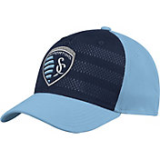 adidas Men's Sporting Kansas City Authentic Structured Blue/Navy Flexfit Hat