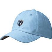 adidas Men's Sporting Kansas City Slouch Blue Adjustable Hat
