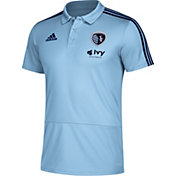 adidas Men's Sporting Kansas City Black Coaches Polo