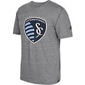 adidas Men's Sporting KC Vintage Crest Grey T-Shirt