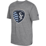 adidas Men's Sporting KC Vintage Crest Grey T-Shirt