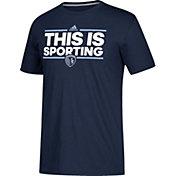 adidas Men's Sporting Kansas City Dassler Local Saying Navy Performance T-Shirt