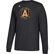 adidas Men's Atlanta United Logo Black Long Sleeve Shirt