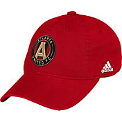 adidas Men's Atlanta United Basic Structured Fitted Red Flex Hat