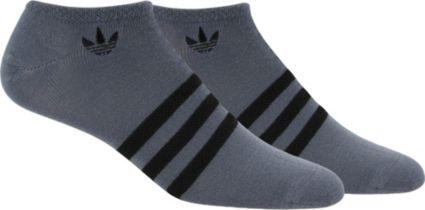 adidas Men's Originals Textured 3-Stripe Low Cut Socks 2 Pack