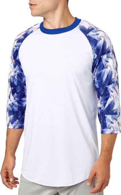 3c62f5c44d0 adidas Men s Triple Stripe ¾ Sleeve Baseball Shirt. noImageFound