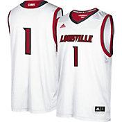 adidas Men's Louisville Cardinals #1 Replica Basketball White Jersey