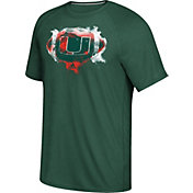 adidas Men's Miami Hurricanes Green Football Ultimate T-Shirt