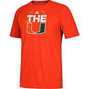 adidas Men's Miami Hurricanes Orange 'The U' Ultimate Short Sleeve T-Shirt