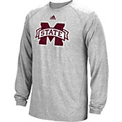 adidas Men's Mississippi State Bulldogs Sideline Spine Black Long Sleeve Shirt