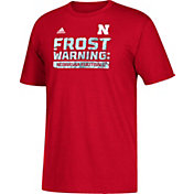 adidas Men's Nebraska Cornhuskers Scarlet 'Frost Warning' Football T-Shirt