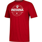 adidas Men's Indiana Hoosiers Crimson On Court Ultimate Short Sleeve T-Shirt