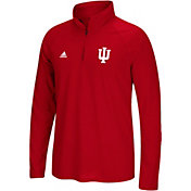 adidas Men's Indiana Hoosiers Crimson Logo Long Sleeve Quarter-Zip Shirt