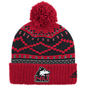 adidas Men's Northern Illinois Huskies Cardinal Cuffed Pom Knit Beanie