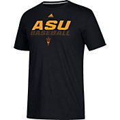 adidas Men's Arizona State Sun Devils Bottom Baseball Performance Black T-Shirt