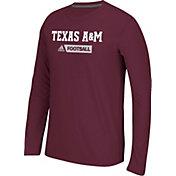 adidas Men's Texas A&M Aggies Maroon Sideline Gridiron Long Sleeve Shirt