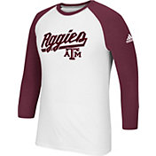adidas Men's Texas A&M Aggies Go-To Three-Quarter Performance White T-Shirt