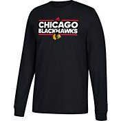 adidas Men's Chicago Blackhawks Dassler Black Long Sleeve Shirt