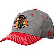 adidas Men's Chicago Blackhawks Two-Color Heather Grey/Red Snapback Adjustable Hat