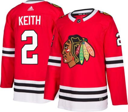 d4fac5545ba adidas Men s Chicago Blackhawks Duncan Keith  2 Authentic Pro Home Jersey.  noImageFound