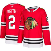 adidas Men's Chicago Blackhawks Duncan Keith #2 Authentic Pro Home Jersey