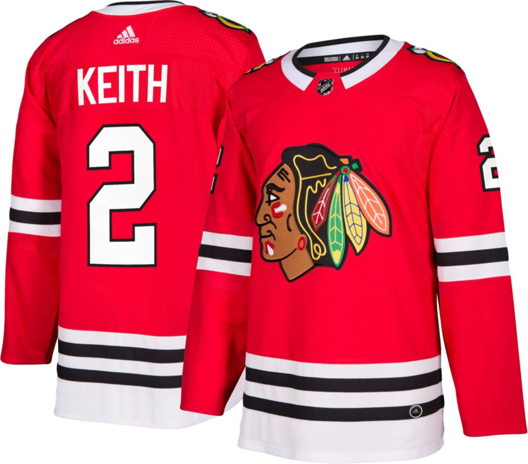new style 3df05 137f2 adidas Men's Chicago Blackhawks Duncan Keith #2 Authentic Pro Home Jersey