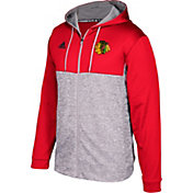 adidas Men's Chicago Blackhawks Red/Grey Full-Zip Hoodie