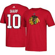 adidas Men's Chicago Blackhawks Patrick Sharp #10 Red T-Shirt